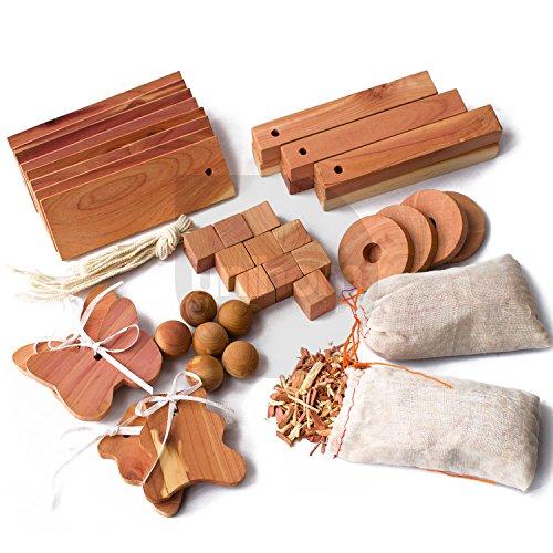 40pcs-unihom-mixed-cedar-moth-repellent-set-hang-ups-balls-and-nuggets