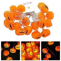 Idea Regalo - NNIUK 20 LED Fata Zucca luce della stringa per la decorazione di Halloween del partito di natalizie di Cosplay.
