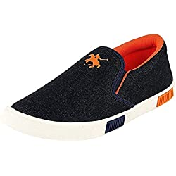 Ethics Men's Perfect Black & Orange Sneaker Shoes (6)