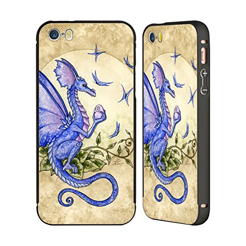 Ufficiale Amy Brown Volo Di Fantasia Mitologico Nero Cover Contorno con Bumper in Alluminio per Apple iPhone 5 / 5s / SE Possibilità