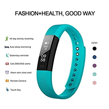 Fitness Tracker Self-timer Slim Smart Watch New Bracelet Bluetooth Call Reminder Calorie Counter Wireless Pedometer Band Sport Sleep Monitor Activity Tracker For Android Ios Phone (Green) 2