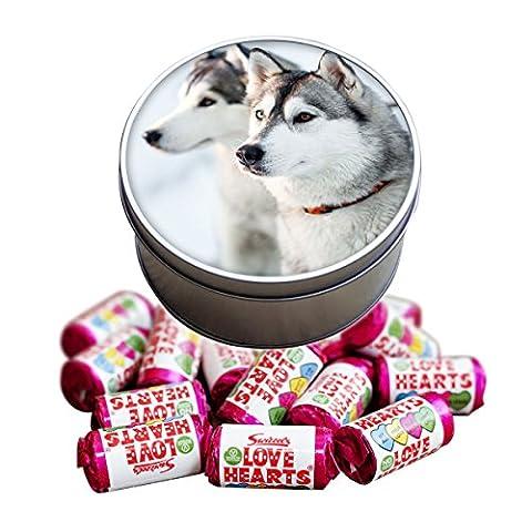 Siberian Husky Dog Animal Love Heart Sweet Tin 281