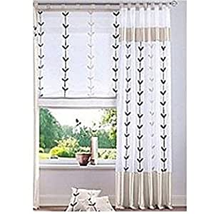 Rideaux de décoration opaques passants 225 x 140 cm-store rideau en taffetas fenêtre organza blanc