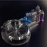MQKZ Rompecabezas de construcción de Metal en 3D, Modelo ensamblado/Europa del Este - San Petersburgo/Regalos creativos de Juguete/Plata/Talla única