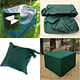 LU2000 Waterproof and Dust-proof Heavy Duty Outdoor Lounge Loveseat Sofa Patio Cover Open-air Patio Furniture Cover Green - Small Size