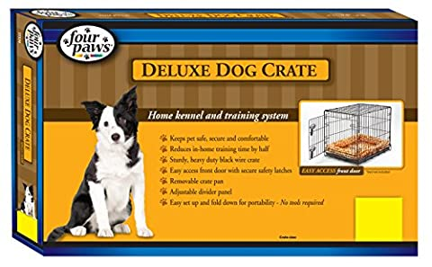 Four Paws Single Door Deluxe Dog Crate with Divider Panel, 42