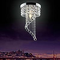 Modern LED Bulb Ceiling Light Pendant Fixture Lighting Crystal Chandelier