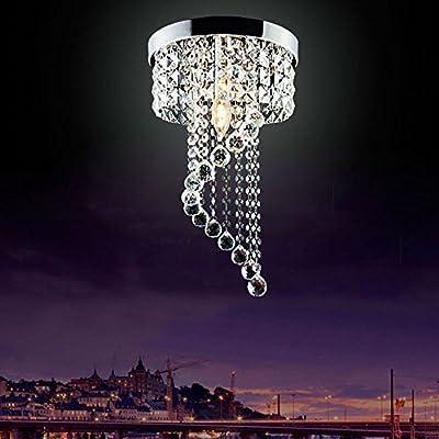 Jorunhe, lampadario a sospensione di cristallo moderno con lampada a LED