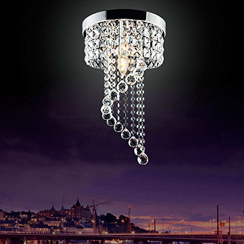 Chandeliers Dynamic Retro 1 Pcs Pendant Lamp For Dining Room Corridor Led Crystal Hanging Light Industrial Suspending Lights Villa Hotel Fixtures High Quality Goods