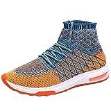 QUICKLYLY Zapatillas Deporte Hombres,Calzado Running/Correr Adulto,Zapatos Gimnasio Sneakers Entrenamiento Aire Libre Y Deportivas Transpirables Athletic(Naranja,42CN)