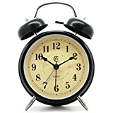 Best Vintage Alarm Clocks - JCC Retro Twin bell non ticking sweep second Review