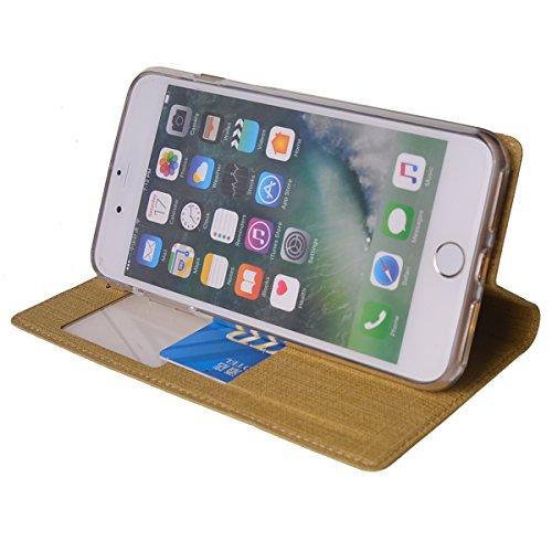 MEIRISHUN Apple iPhone 5 Case,Portafoglio PU Pelle Magnetico Stand Morbido Silicone Flip Bumper Protettivo Gomma Shell Borsa Custodie con Slot per Apple iPhone 5 - Grigio Marrone