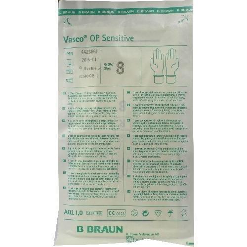 Vasco Op Handschuhe Steril Puderfrei Gr.8,0, 2 St