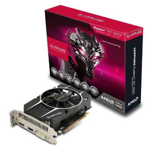 Sapphire R7 260X AMD Grafikkarte (PCI-e, 2GB, GDDR5 Speicher, DVI, 1 GPU) -