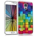 kwmobile Samsung Galaxy S5 / S5 Neo Hülle - Handyhülle für Samsung Galaxy S5 / S5 Neo - Handy Case in Mehrfarbig Grün Blau