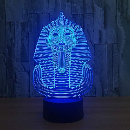 Große Sphinx (Die Große Sphinx Von Ägypten Modell 3D Lampe LED Acryl Nachtlicht Mit 7 Farben Licht Für Hauptdekoration Lampe Kind Kind Weihnachtsgeschenk)