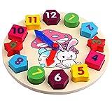 #4: Idream Shape Of Wooden Clock Building Blocks Toys Education Toys Digital Geometry Clock