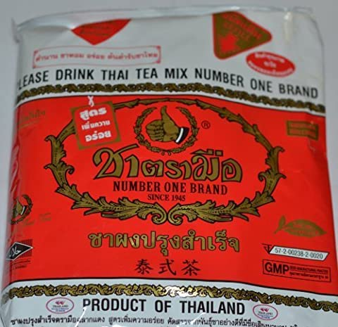 The Original Thai Iced Tea Mix ~ Number One Brand Imported From Thailand! 400g Bag Great for Restaurants That Want to Serve Authentic and High Quality Thai Iced