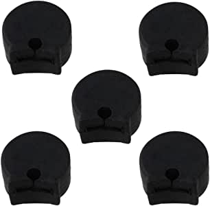 Siming 5pcs Rubber Clarinet Thumb Rest Black Clarinet and Oboe Cushion Pad