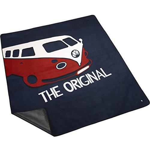 Volkswagen 7E0084509 Picknickdecke T1 Dunkelblau/Weiß/Rot,