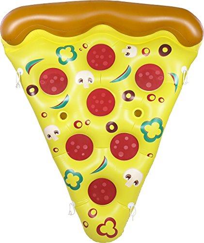 Greenco gigante hinchable Pizza piscina flotante tumbona con conectores 6 x 5 pies