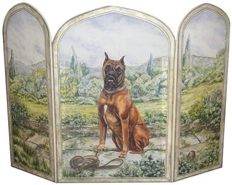 Stupell Home 3Panel Outdoor Deko Hund Kamin Bildschirm, 31von 44von .375-inch Brown, Green, Blue, Tan, Brown, Beige
