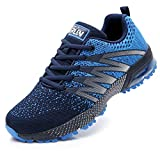 Axcone Homme Femme Air Running Baskets Chaussures Outdoor Running Gym Fitness Sport Sneakers Style Multicolore Respirante Marche Nordique - 8995 BU 41EU...