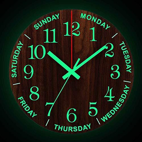 XYQY Reloj Pared Luminoso Caliente 12 Pulgadas Relojes