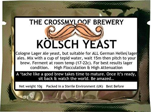 Bierhefe zum Brauen zu Hause, Kölsch-, Lager- und Ale-Hefe für leichte deutsche Biere. Erhältlich auch in Packungen von 3, 5 und 10., 10g