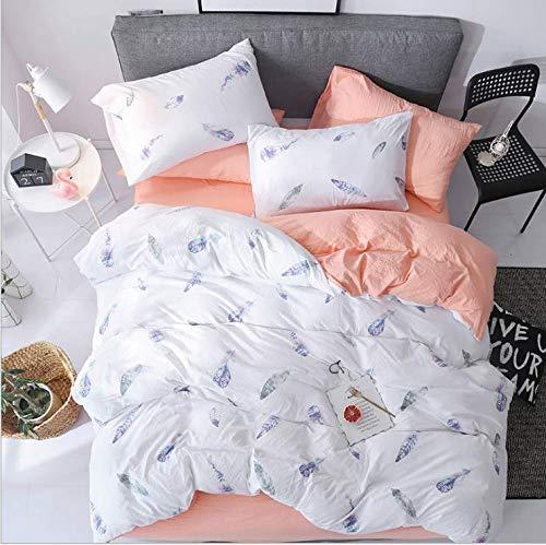 Kurze Art-Polyester-Bettwäschesätze Königin Twin Size Blanket Cover Set Schleifen Stoff Cartoon Printing Bettwäsche Weiß 150x200cm