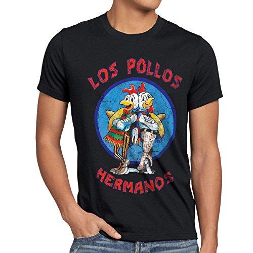 style3 Los Pollos T-Shirt Herren, Größe:M, Farbe:Schwarz -
