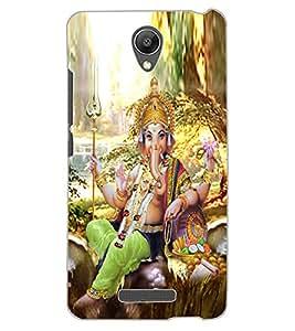 ColourCraft Lord Ganesha Design Back Case Cover for XIAOMI REDMI NOTE 2