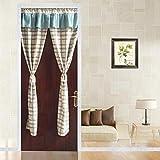 BGAOYUHUA Küchentür-Vorhang-Winter Windproof Warmer Vorhang, Blackout-Tür-Vorhang für Privacy Teleskopstange Pocket Top Window Treatments Halber Türvorhang,A2_90*120cm