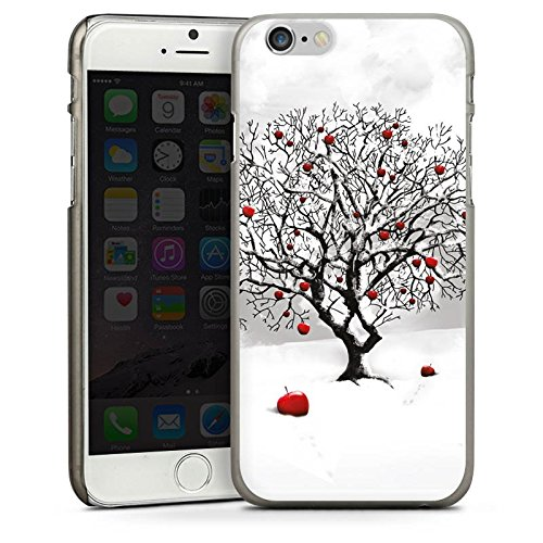 Apple iPhone 4 Housse Étui Protection Coque Hiver Neige Arbre CasDur anthracite clair