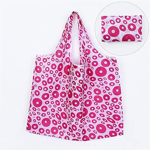 XHYYQX Shopping Bag Fold Reusable Bag Large Capacity Portable Shoulder Storage Waterproof,I - Schulter Ausgestattet Drop