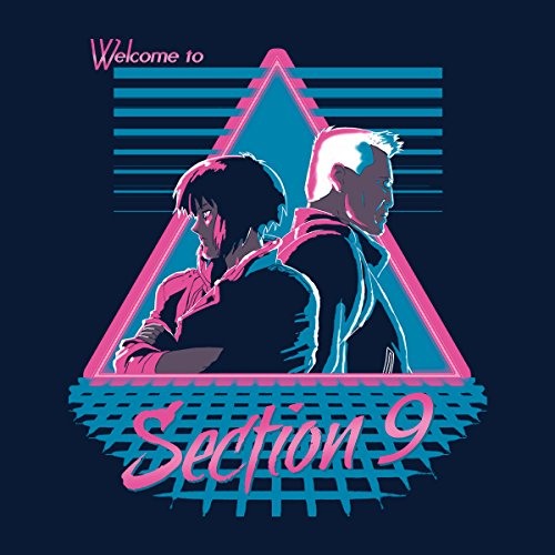 Welcome To Section 9 Ghost In A Shell Women's Hooded Sweatshirt Navy Blue