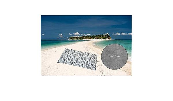 180/x 180/cm Blu Cotone//Spugna Microfibra Soleil d Ocre 403009/Asciugamano//Telo Mare