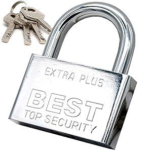 servicio puerta a puerta: Candado de acero con llaves (SEGURIDAD DE SERVICIO PESADO) 100% impermeable - Ce...