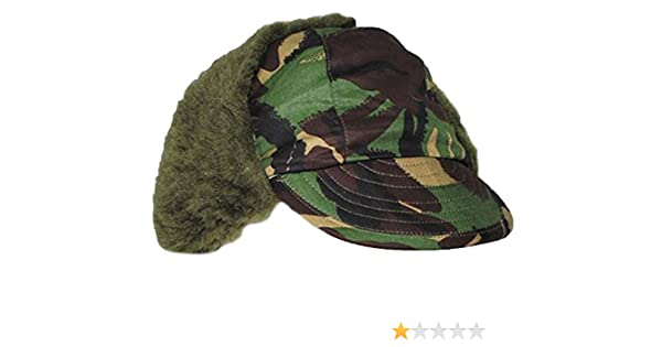 Original British Army Issue DPM Camouflage Winter Pile Peaked Trapper Hat   Amazon.co.uk  Clothing 2c420df71fab