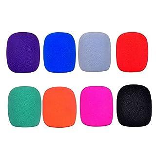 Handheld Microphone Windscreen Foam Cover, 8-pack