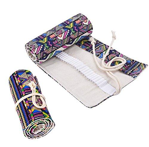 erpackungshalter Bleistift Wrap Kasten Bleistifthalter für Künstler, Schule, Büro und Bohemian (Farbige Bleistift-speicher)