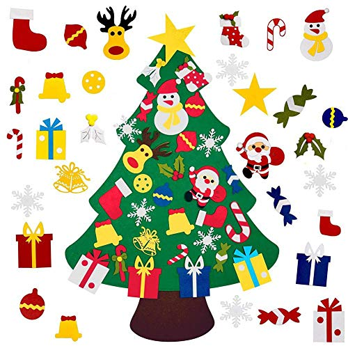 Children's DIY Felt Christmas Tree,with 30pcs Ornament Kids Gifts -