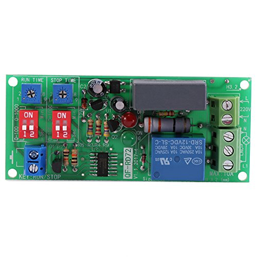 1 pz AC100V-250V Infinite Loop Ciclo Timer Modulo Delay Relè ON/OFF Regolabile Tempi Switch Module RD72-A