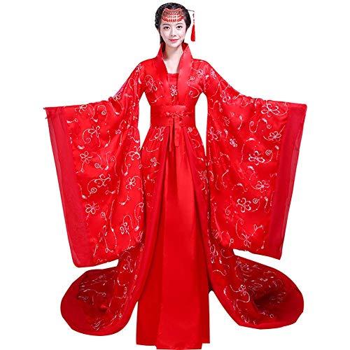 Susichou Hanfu Kostüme Gericht Kostüme Queens Guifei Princess Kleider Fairy Kleider Brautkleider Red Elegant und herrschsüchtig Wide Sleeve Performance Kostüme - Fairy Queen Kostüm