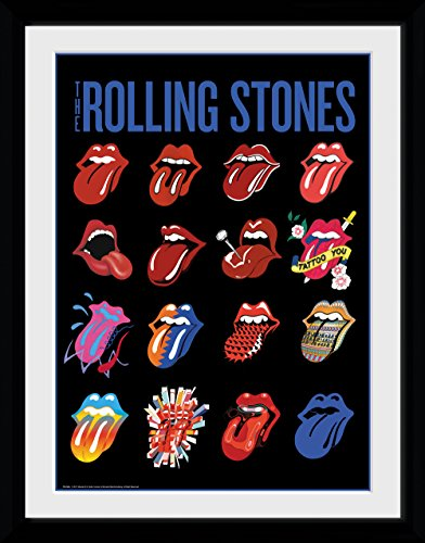 "GB Eye Limited - ""The Rolling Stones, Lenguas. Fotografía enmarcada, 30x 40cm"