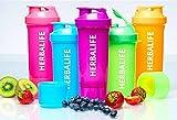 Herbalife Mezclador para bebidas proteicas (color rosa fluorescente)