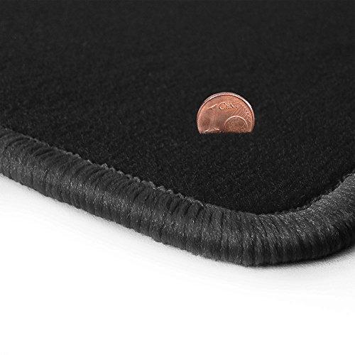 Preisvergleich Produktbild Schwarze Velours Fußmatten in Top-Qualität,  Randfarbe Dunkelgrau OFM-Q300_R501_00772