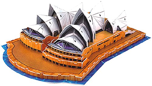 Playtastic 3D Modellbau Puzzles: Faszinierendes 3D-Puzzle Opera House in Sydney, 58 Puzzle-Teile - Sydney Opera House