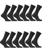 12 Paar Thermo Socken Herren Business Strümpfe schwarz Winter warm Gr. 40 - 46