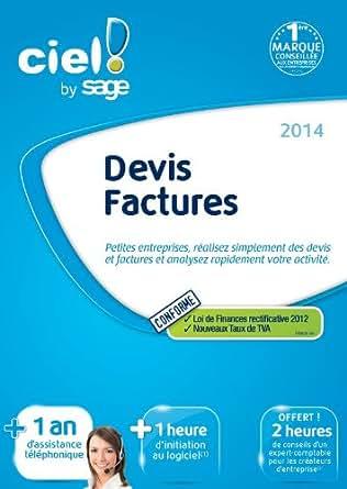 Ciel Devis Facture 2014 + 1 an d'assistance téléphonique [Téléchargement]
